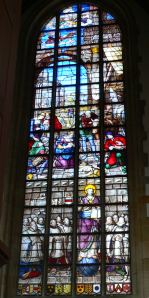The birth of Jesus, window 12 in the St Jan church in Gouda, made in 1564.