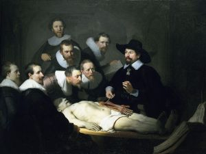 Rembrandt, The Anatomy Lesson of Dr. Nicolaes Tulp , 1632. Oil on canvas. Mauritshuis, The Hague.