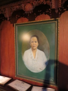 Portrait of Nyonya Meneer in the factory museum, Semarang, Indonesia.