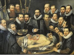 Michiel Jansz van Mierevelt - Anatomy lesson of Dr. Willem van der Meer. Delft 1617. Oil on canvas.