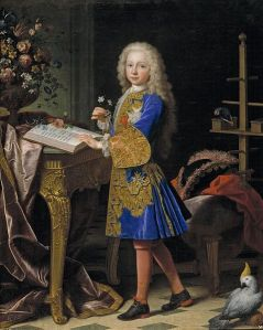 Carlos III of Spain as a boy, painted by Jean Ranc, ca. 1724. Museo del Prado, Spain, Num. de catálogo: P02334.