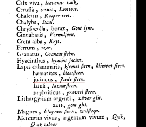 Lapis judaicus listed in Pharmacopoea Roterodamensis galeno-chymica, of Rotterdamsche galenische en chymische Apotheek, 1735.