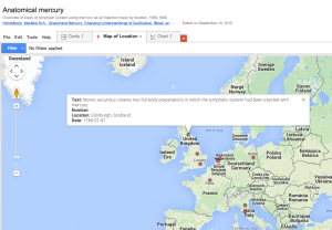 First experiment:     historical data in Google Fusion Tables.